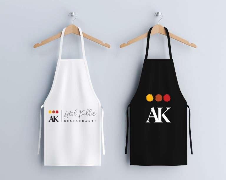 Atul Kochhar restaurants apron design