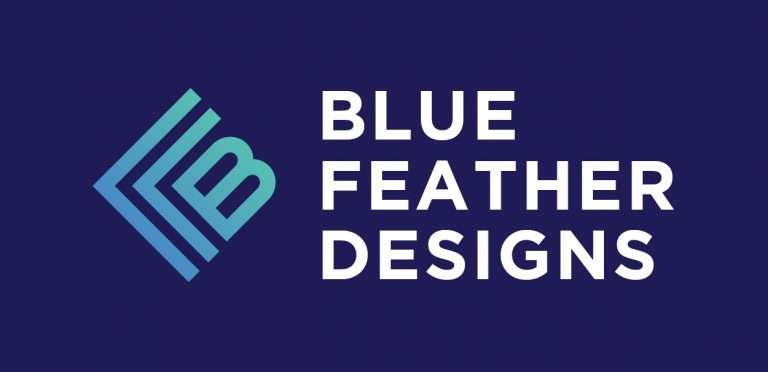 Blue Feather Designs logo for restaurant industry