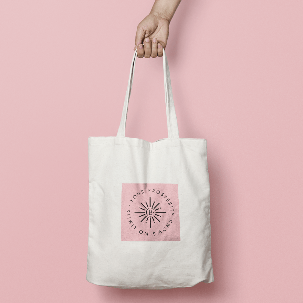 Pink tote bag for Charlotte Balbier