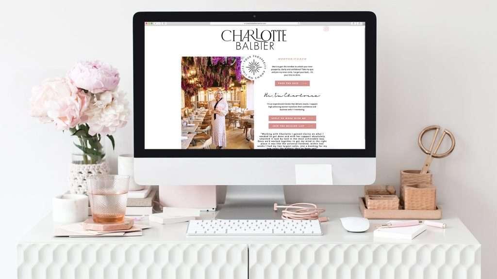 Logo design for Charlotte Balbier website
