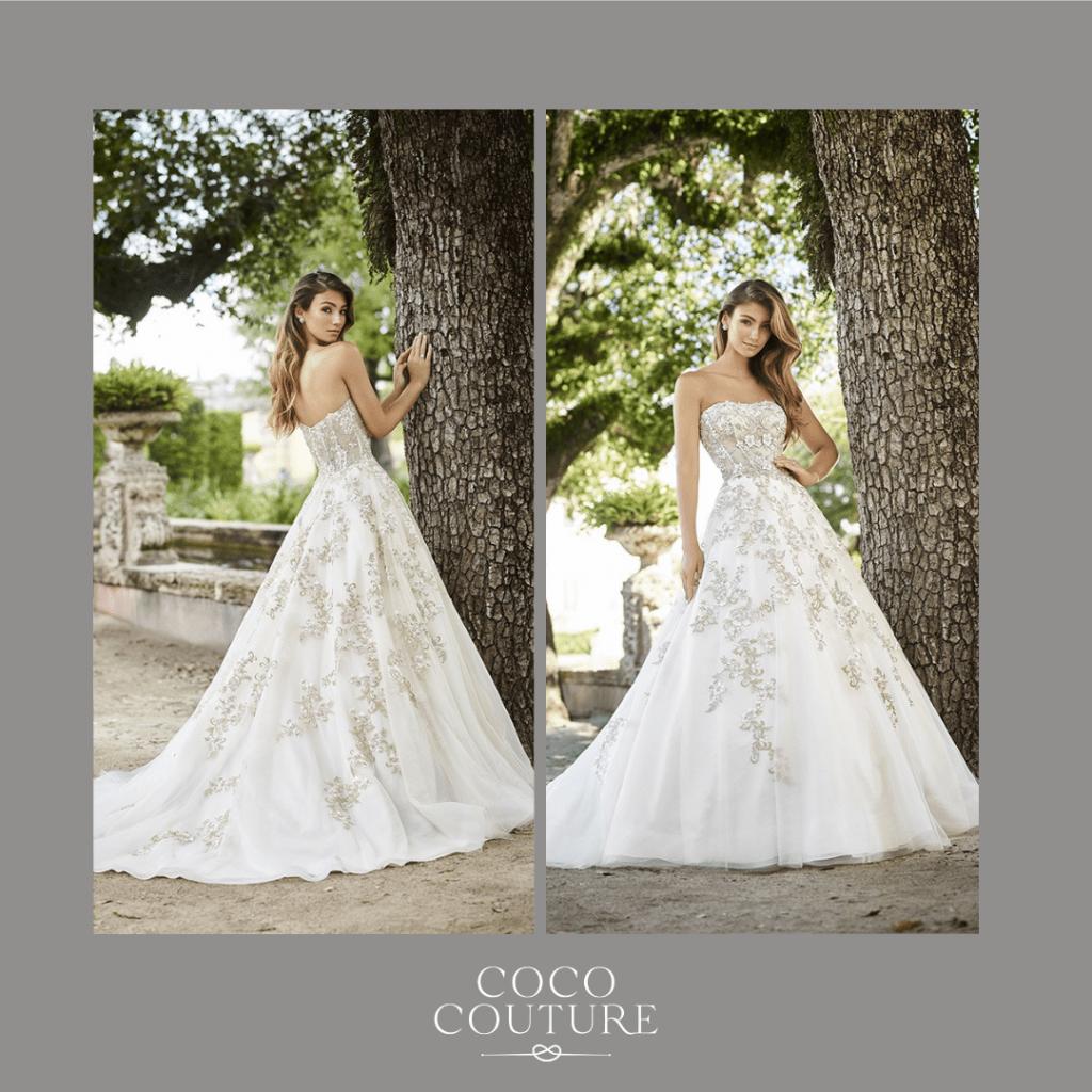 Brides wearing wedding dresses