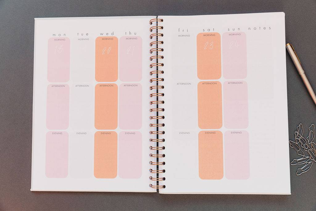 My Planner inside pages of a business planner
