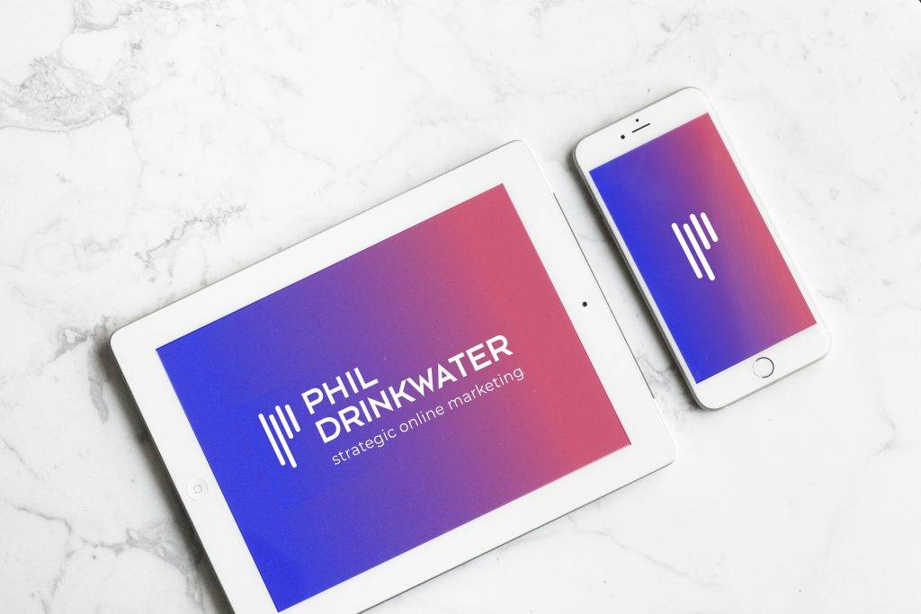 Logo design for digital marketing business on ipad and iphone